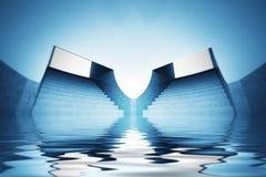 A cena do papel de parede do espiritual inundou a opinião do interior da abóbada Foto de Stock Royalty Free