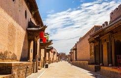Cena do parque do solar de Chang. Rua principal e portas principais. Imagem de Stock