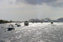 Cena do porto Imagem de Stock Royalty Free