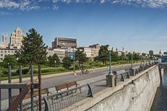 Cena do porto velho de Montreal Foto de Stock