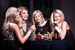 Cena do restaurante imagem de stock
