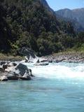 Cena do rio de Nova Zelândia na trilha de passeio de Copland na costa oeste fotos de stock