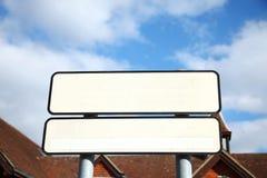 cena do sinal do ฺBlank imagem de stock