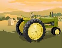 Cena do trator de exploração agrícola Fotos de Stock
