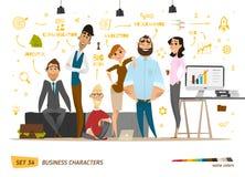 Cena dos caráteres do negócio ilustração royalty free