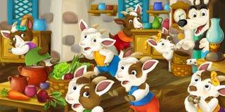 Cena dos desenhos animados Imagens de Stock Royalty Free