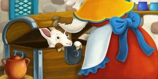 Cena dos desenhos animados Fotografia de Stock Royalty Free