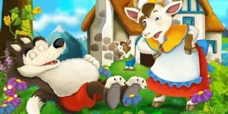 Cena dos desenhos animados Imagem de Stock Royalty Free