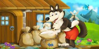 Cena dos desenhos animados Imagens de Stock