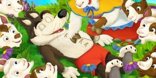 Cena dos desenhos animados Foto de Stock Royalty Free