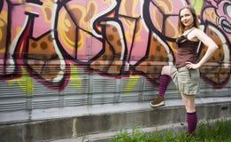 Cena dos grafittis fotografia de stock royalty free