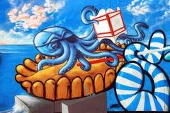 Cena dos grafittis de Sete Fotografia de Stock