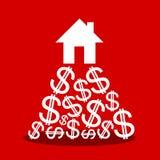 Cena drogi dom ilustracji