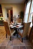 Cena e interior de la cocina Imágenes de archivo libres de regalías