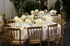 Cena elegante del almuerzo del restaurante del gazebo Imagen de archivo libre de regalías
