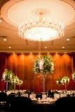 Cena elegante do jantar do salão de baile Imagens de Stock Royalty Free