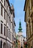 Cena em Bratislava, Eslováquia Fotos de Stock Royalty Free