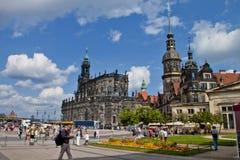 Cena em Dresden, Alemanha Fotografia de Stock Royalty Free