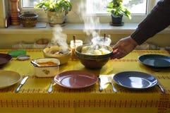 Cena en el hogar. fotos de archivo libres de regalías