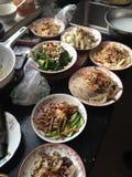 Cena en el hogar chino Imagen de archivo libre de regalías