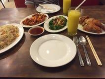 Cena en el restaurante asiático fotografía de archivo