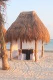 Cena en la playa 1 Imagen de archivo libre de regalías