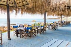 Cena en las orillas del mar Mediterráneo Imágenes de archivo libres de regalías