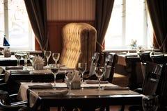 Cena en restaurante Imagen de archivo