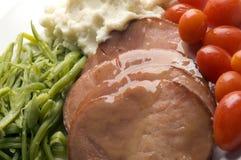 Cena esmaltada del jamón Fotografía de archivo