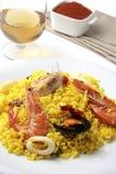 Cena española del paella foto de archivo libre de regalías