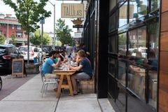 Cena exterior del verano Imagen de archivo libre de regalías