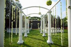 Cena exterior do casamento Foto de Stock Royalty Free