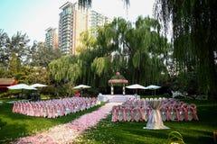 Cena exterior do casamento Imagens de Stock
