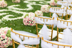 Cena exterior do casamento imagens de stock royalty free