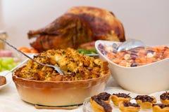 Cena extravagante deliciosa de Turquía de la acción de gracias Imágenes de archivo libres de regalías