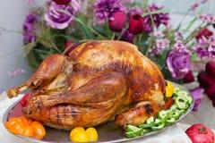 Cena extravagante deliciosa de Turquía de la acción de gracias Fotos de archivo