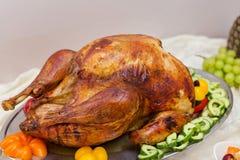 Cena extravagante deliciosa de Turquía de la acción de gracias Foto de archivo