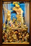 Cena feito a mão italiana tradicional da natividade - presepe imagens de stock royalty free