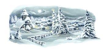Cena feliz do inverno do Natal Imagens de Stock Royalty Free