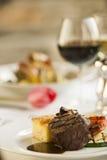 Cena fine piacevole della bistecca. Fotografie Stock