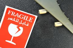 Cena frágil da etiqueta Imagens de Stock