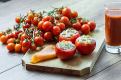 Cena fresca de los tomates Imagen de archivo libre de regalías