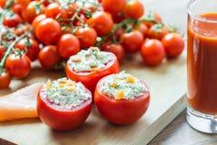 Cena fresca dei pomodori Immagini Stock