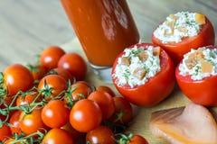 Cena fresca dei pomodori Fotografia Stock Libera da Diritti