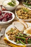 Cena hecha en casa de la acción de gracias de Turquía Fotos de archivo