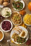 Cena hecha en casa de la acción de gracias de Turquía Fotografía de archivo libre de regalías