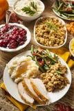 Cena hecha en casa de la acción de gracias de Turquía Foto de archivo