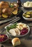 Cena hecha en casa de Turquía de la acción de gracias Imágenes de archivo libres de regalías