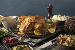 Cena hecha en casa de Turquía de la acción de gracias Imagenes de archivo