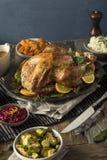 Cena hecha en casa de Turquía de la acción de gracias Imagen de archivo libre de regalías